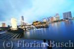 Singapur Skyline mit Merlion
