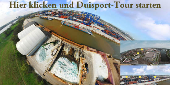 Panoramafotografie Hafen Duisburg